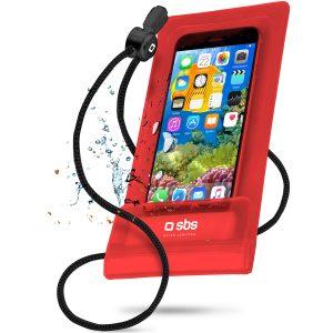 custodia-impermeabile-per-smartphone-55-rosso