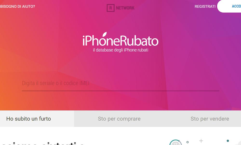 Il sito internet di iPhoneRubato