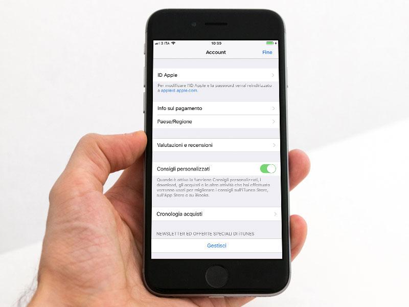 Gestione Dati Di Pagamento E Fatturazione Dell Id Apple