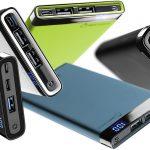 Caricabatterie portatili Freepower Manta con lettore led, finiture soft touch e carica veloce anche in simultanea di Cellularline