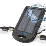 PowerBank con Pannello Solare, 2 ingressi USB e Resistente agli spruzzi di SBS