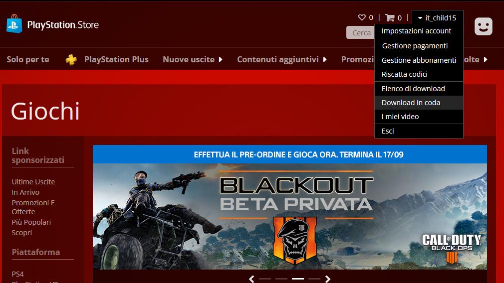 Come riscattare codici sul sito PlayStation