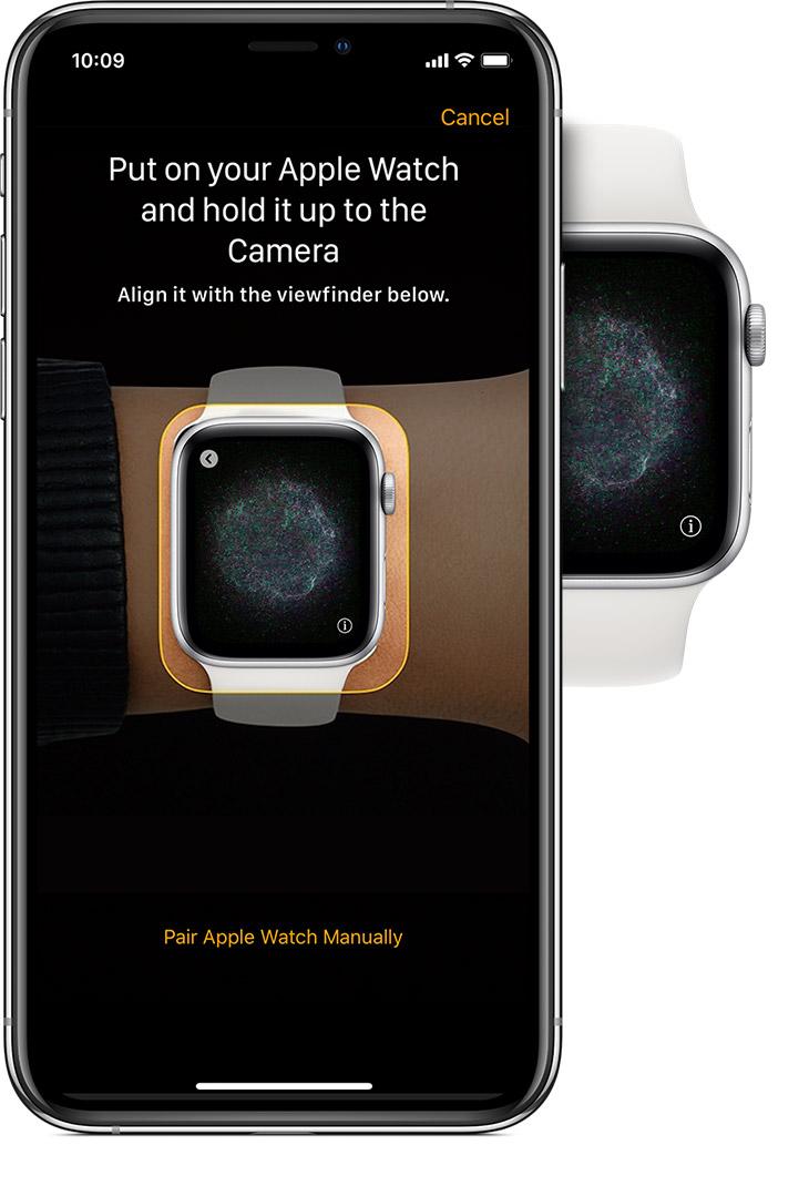 animazione abbinamento apple watch iphone