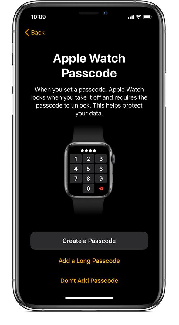 codice sblocco apple watch