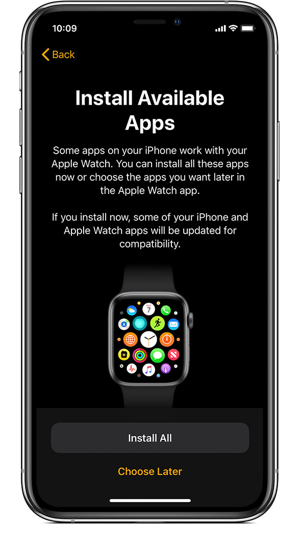 configurazione app apple watch
