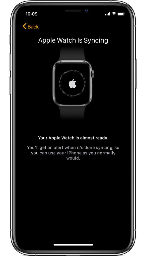 sincronizzazione apple watch