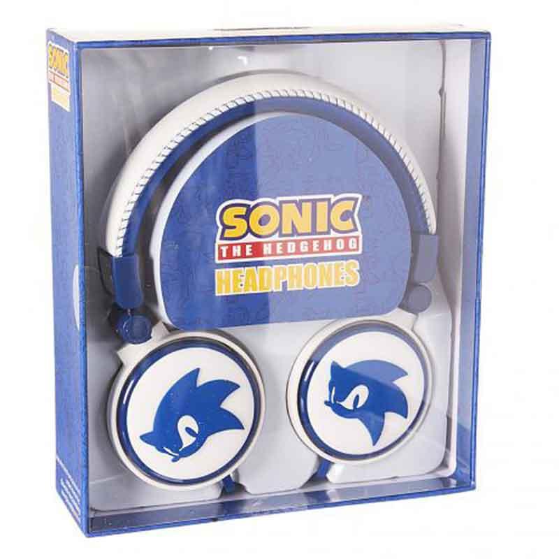 Cuffie Sonic The Hedgehog 3d Headphones Blu E Bianco Blob Video