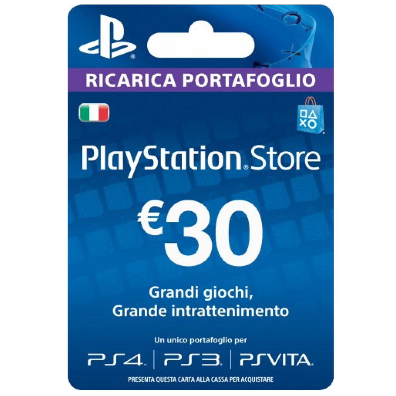 5d1ec86f51 PLAYSTATION STORE RICARICA PORTAFOGLIO 30 EURO - Blob Video